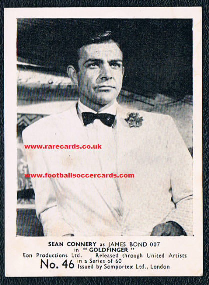 1964 Somportex Goldinger Sean Connery